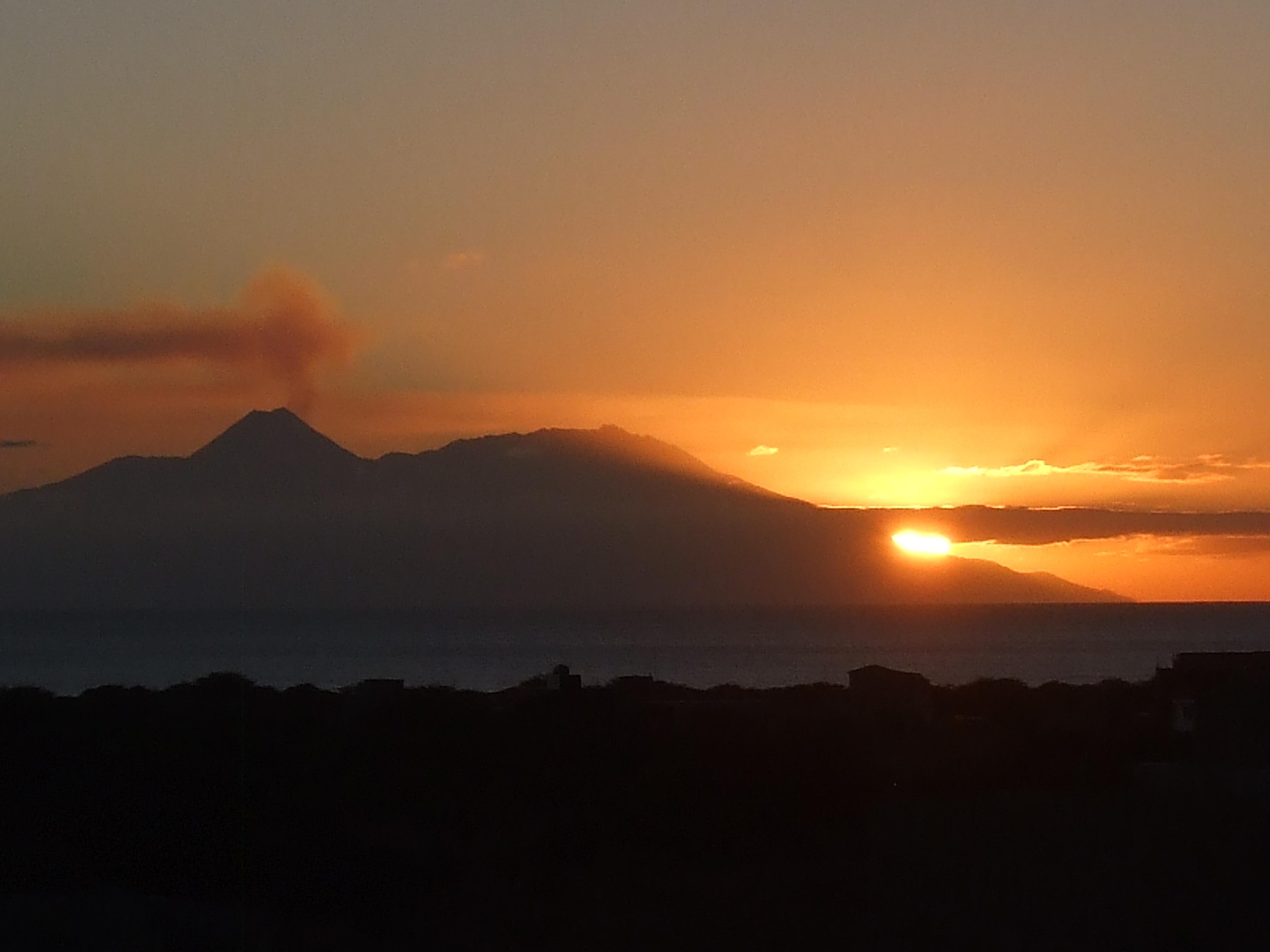Insel Fogo Sonnenuntergang